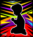 Small boy praying