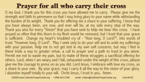 prayer for all who carry their cross