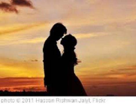 couple together at sunset