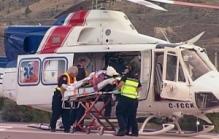 patient in air ambulamce
