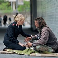 Salvation Army officer helps homeless man