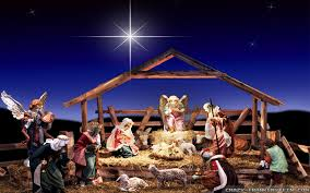 nativity scene with star