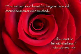 quote about love from heary Helen Keller