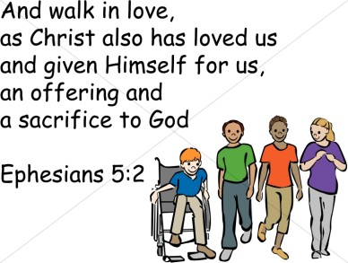 walk in love wih child in wheelchair