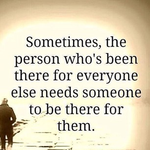 person needs someone to be there