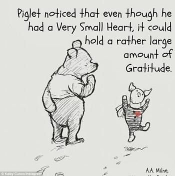 Piglet small heart large gratitude