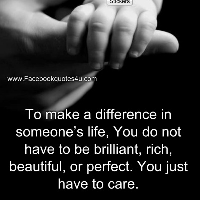 make  a difference by caring