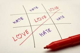 tic tac toe love wins over hate